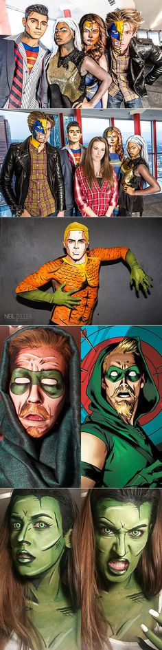Talented Calgary, Canada-based makeup artist Lianne Moseley uses her amazing skills to turn normal, everyday people into superheroes. Moseley, a self-trained artist who usually does makeup work for weddings and personal photo shoots, also has an eye for making people look like they have literally just popped up out of a comic book.