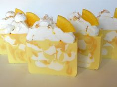 Sweet Lemon Cream Soap / Artisan Soap / Cold by RoyaltySoaps