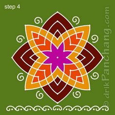 Lakshmi Hridaya Rangoli Step 4