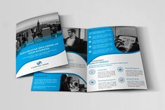 Corporate Bi-fold Brochure by design_pick on @creativemarket