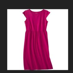 New Red Petite Cap Sleeve Dress. Size P Xl