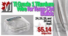 TEMP CONTROL! – Ti Grade 1 Titanium Wire for Rebuilders – $5.14 +FS