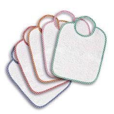 set cinque bavaglini asilo bordo colorato a scelta