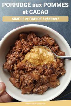 Porridge aux pommes et au cacao SIMPLE et RAPIDE