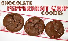 Christmas Chocolate Peppermint Cookies