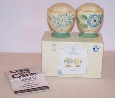 Pfaltzgraff Salt Pepper Shakers Vintage Floral 582-0258-00 Original Box Flowers #Pfaltgraff #SaltPepper #Kitchen