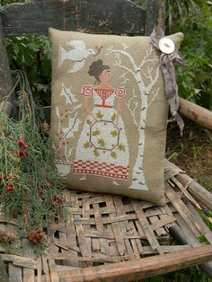 Holly  cross stitch Paper Pattern  from by notforgottenfarm