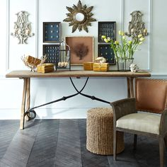 Handwoven Seagrass Pouf available at wisteria.com  Incredible photo styling