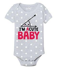 Polka Dot I'm Acute Baby Bodysuit//