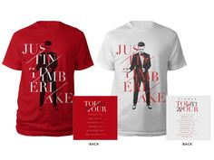 Justin Timberlake shirts and tour design by katie campbell