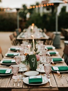 Emerald and pink wedding inspiration; organic boho wedding at Pensione Korakia in Palm Springs; photography by Joel & Justyna; Elegant Wedding, Boho Wedding, Wedding Decorations, Table Decorations, Palm Springs, Vintage Inspired, Emerald, Table Settings, Wedding Inspiration