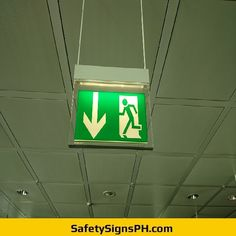 Looking for a reliable fire exit signage supplier in the Philippines? Hospital Signage, Exit Sign, Fire Safety, Running Man, Philippines, Arrow, Led, Signs, Hall Runner
