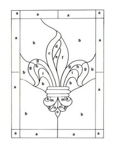 simple stained glass patterns printable | Free Emblem Patterns and Logo Patterns For Stained Glass