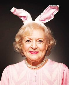 Yes, and I'd ask her to wear those bunny ears.