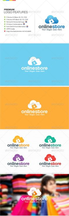 Online Store Logo #vector #eps #identity #simple • Available here → https://graphicriver.net/item/online-store-logo/8546566?ref=pxcr