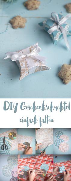 DIY mini Geschenkschachtel falten - einfaches DIY Tutorial - Schritt für Schritt Anleitung - Basteln mit Papier