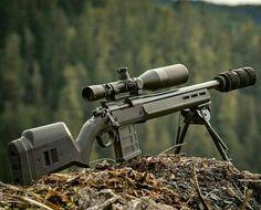 Boltaction Remington 700 magpul with suppressor and custom magazine mod magpul stock and tripod tactical glock and ar15s make a good comb uscg usmc usn usaf USA