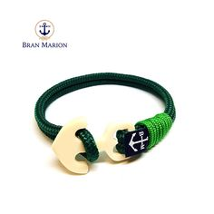 Wood Anchor Nautical Bracelet by Bran Marion Nautical Bracelet, Nautical Jewelry, Wood Anchor, Marine Rope, Everyday Look, Handmade Bracelets, Blue And White, Black, Jewelry Collection