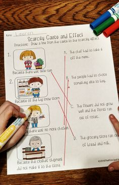 Teach the concept of scarcity with a fun classroom simulation activity, hands-on worksheets, and a mini book.  Grades 1-3