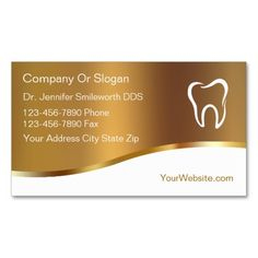Dentist Business Cards. Make your own business card with this great design. All you need is to add your info to this template. Click the image to try it out!