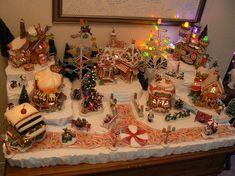 2009 North Pole Village by Christmas Village Decorations, Christmas Tree Village, Christmas Gingerbread House, Small Christmas Trees, Christmas Town, Christmas Scenes, Christmas Villages, Disney Christmas, Christmas Diy