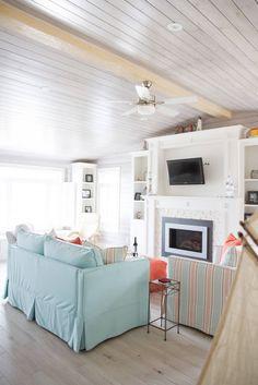 beach house family room
