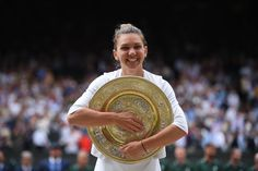 27 year- old Romanian Simona Halep produced sensational tennis to thwart American superstar Serena Williams's latest bid to capture a record-equalling Grand Slam when she . Serena Williams, Simona Halep Wimbledon, Steffi Graf, Great Run, Professional Tennis Players, Hello To Myself, Easy Day, My Dream Came True, 27 Years Old
