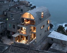 vector architects adds vaulted roof to captain's house in coastal china