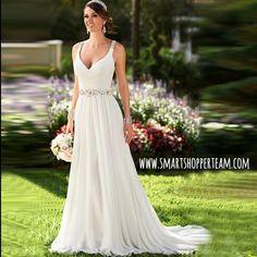 Plus Size Lace V-Neck Wedding Dress #weddingdress #WeddingDresses #external #HairAccessories #Love