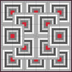 Skill Builder Series: Part 13 – Log Cabin « Piecemeal Quilts Patchwork, Cottage Exterior, Scrabble, Cabin, Quilts, Games, Bento Box, Ideas, Chevron