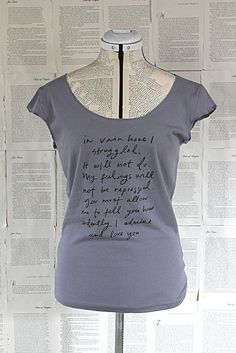 Mr. Darcy Proposal grey scoop neck t shirt