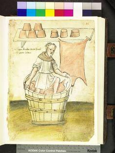 Mendel Housebook, Amb. 317.2° Folio 34 recto, c 1425, Nuremberg (Nürnberg)