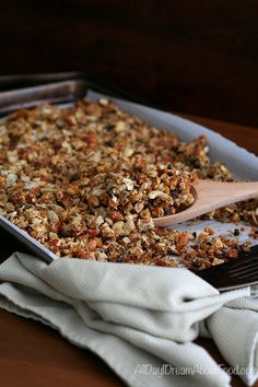 Making your own granola is easy and delicious. This paleo low carb granola recipe whips up in less than 30 minutes. Dairy-free and grain-free. Low Carb Granola, Low Carb Desserts, Low Carb Recipes, Healthy Recipes, Delicious Recipes, Low Carb Breakfast, Breakfast Recipes, Breakfast Dishes, Recipes