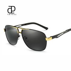 e4667809c37 FEIDU HD Polarized Sunglasses Men Brand Design Alloy Temple Vintage Sun Glasses  Driving Eyewear For Male With Case-in Sunglasses from Men s Clothing ...