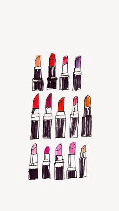 Lipstick ★ Find more fashionable wallpapers for your + Wallpaper For Your Phone, Cool Wallpaper, Pattern Wallpaper, Wallpaper Quotes, Wallpaper Backgrounds, Drawing Wallpaper, Makeup Wallpapers, Cute Wallpapers, Iphone Wallpapers