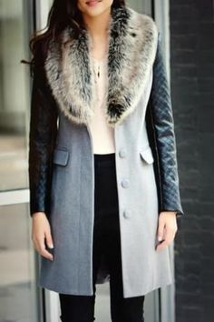 Look at this Donna Salyers' Fabulous-Furs Gray Faux Fur Shawl Collar Coat - Plus Too on today! Faux Fur Collar Coat, Fur Collars, Outfits Otoño, Fabulous Furs, Couture, Jackets, Clothes, Winter Style, Spring Style
