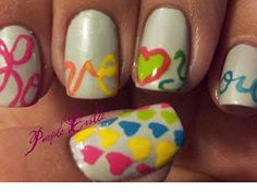 Wear your heart on your #nails instead of your sleeve. #nailart http://www.ivillage.com/best-nail-art-teen-and-tween-girls/6-a-527284#