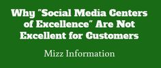 If there's a huge difference between customer service and social media customer service, that doesn't make for a good customer experience.
