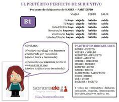 B1 - Conjugación del Pretérito Perfecto de Subjuntivo.