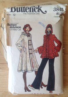 Designer Betsy Johnson Hooded Coat Sewing Pattern