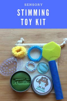 A stimming toy kit would be perfect for our son! I like that this one isn't too big so we can take it with us places. #ad #sensory #giftidea #autism #ADHD #ADD #SPD #fidget