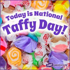 Today we celebrate that sticky, sweet treat so often associated with trips to the beach, Salt Water Taffy. Unusual Holidays, Salt Water Taffy, Today Is National, Special Day, Special Holidays, Pop Tarts, Holiday Fun, Sweet Treats, Snack Recipes