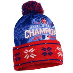 ffe1f423f42 Chicago Cubs 2016 World Series Champions FC Light Up LED Winter Beanie