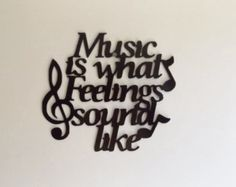 Metal Music is what feelings sound like by LeatonMetalDesigns. Explore more products on http://LeatonMetalDesigns.etsy.com