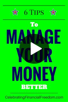 Video- Managing your money seems too complicated, but it's really not that hard.  After all, it's just third grade math!  Just Watch the Video and I'll show you 6 tips to keep things simple and manage your money like a pro!  #money #manage #finances #tips  http://www.cfinancialfreedom.com/6-tips-to-manage-your-money-better