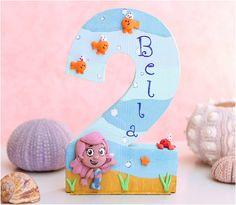 Custom Bubble Guppies Birthday Cake Topper