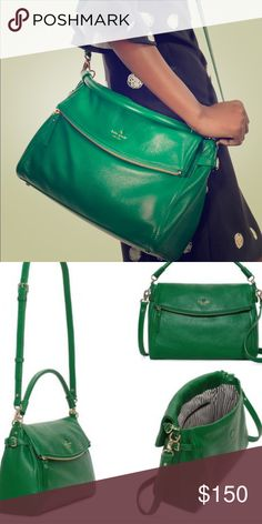 Kate Spade Cobble Hill Little Minka forest green Remember when you fell in love with green? Used with love but now onto blue! kate spade Bags Crossbody Bags