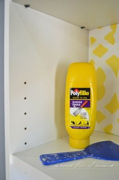 Spackle holes in an adjustable bookshelf to create a seamless, more high-end look. Ikea Billy bookcase hack | a house full of sunshine