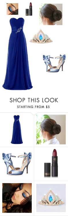 """""""Tiana's Summer Masquerade Ball"""" by www-nyny ❤ liked on Polyvore featuring Nina, Lipstick Queen and Disney"""
