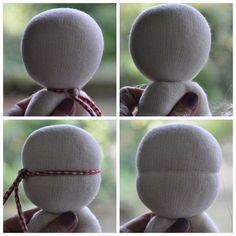 Grietjekarwietje: Easy Weg, um ein Sonnenkind doll Kopf zu bekommen, zu binden.